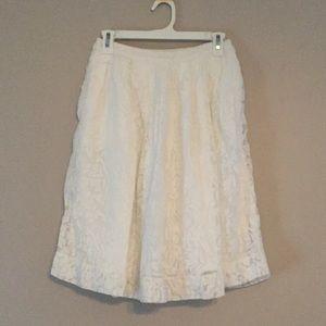 Jcrew white lace skirt